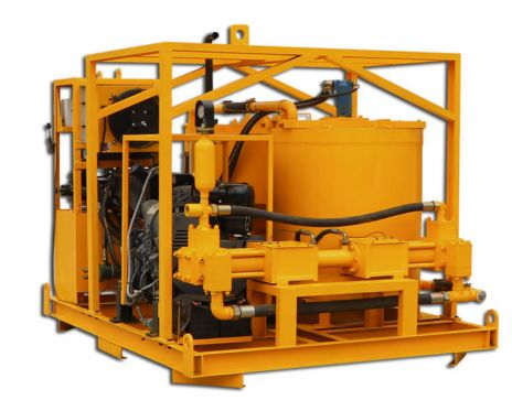 WGP400/700/80/100DPI-D Grout mixer and pump for foundations micropile project